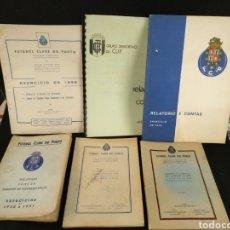 Coleccionismo deportivo: LOTE FÚTBOL CLUBE DO PORTO, RELATORÍO CONTAS, CUENTAS 1947, 48, 50, 58, 73 Y 76. FÚTBOL CLUB PORTO. Lote 194925738