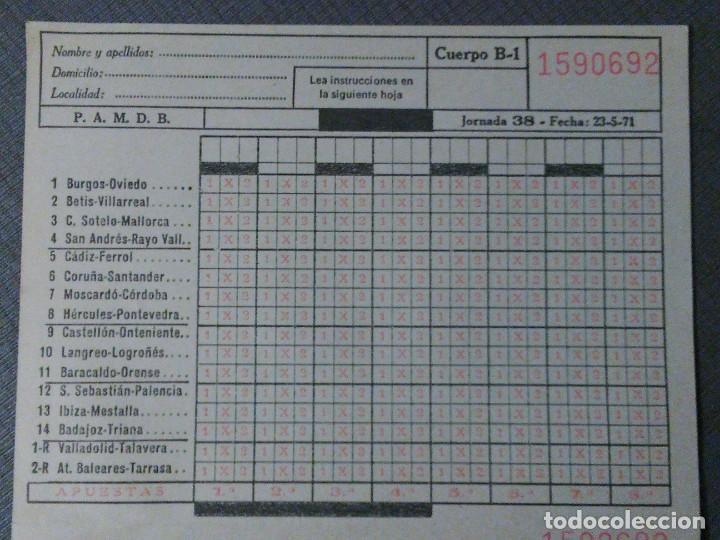 Coleccionismo deportivo: Quiniela de fútbol 1.971 - Foto 3 - 194976972