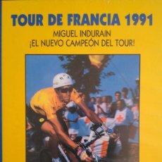 Coleccionismo deportivo: LOS CINCO TOUR DE INDURAIN. Lote 194987518