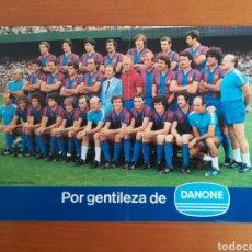 Coleccionismo deportivo: LOTERÍA FC BARCELONA FUNCIONARIS AÑO 1980 PUBLICIDAD DANONE - KUBALA ENTRENADOR FÚTBOL BARÇA. Lote 195043257