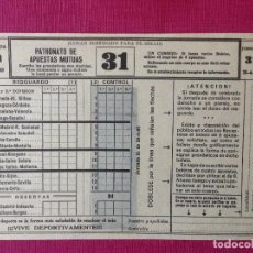 Coleccionismo deportivo: BOLETO DE APUESTAS DE FÚTBOL 1969. Lote 195050372