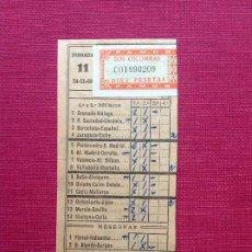 Coleccionismo deportivo: BOLETO DE APUESTAS DE FÚTBOL 1968. Lote 195050450