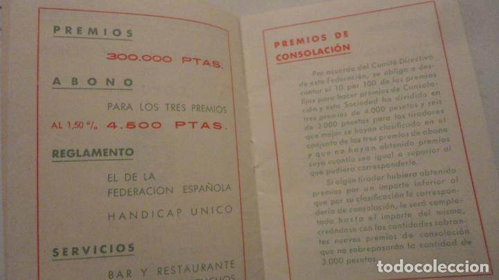 Coleccionismo deportivo: FEDERACION SOCIEDADES TIRO DE PICHON ESPAÑA.PROGRAMA TIRADAS OFICIALES.CORDOBA 1960 - Foto 3 - 195191771