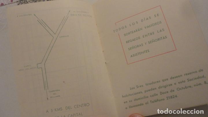 Coleccionismo deportivo: FEDERACION SOCIEDADES TIRO DE PICHON ESPAÑA.PROGRAMA TIRADAS OFICIALES.CORDOBA 1960 - Foto 6 - 195191771