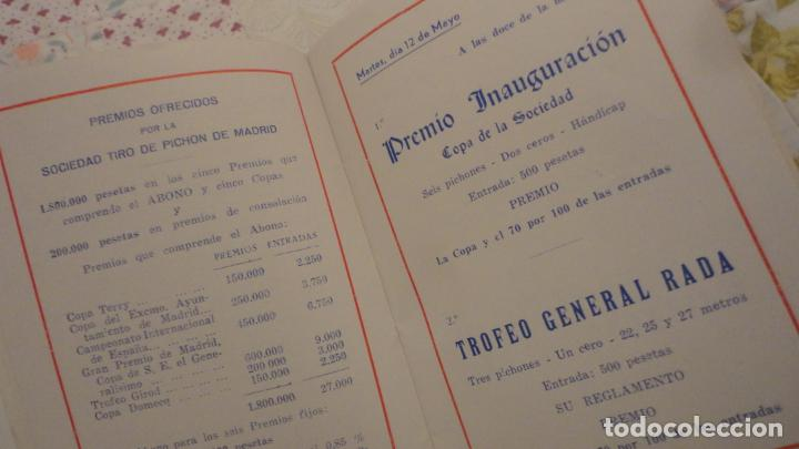 Coleccionismo deportivo: SOCIEDAD TIRO DE PICHON.PROGRAMA TIRADAS EXTRAORDINARIAS.MADRID 1959 - Foto 4 - 195192096