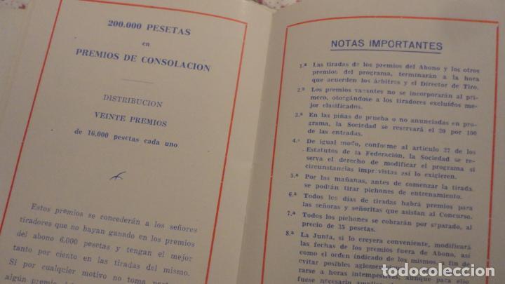 Coleccionismo deportivo: SOCIEDAD TIRO DE PICHON.PROGRAMA TIRADAS EXTRAORDINARIAS.MADRID 1959 - Foto 8 - 195192096