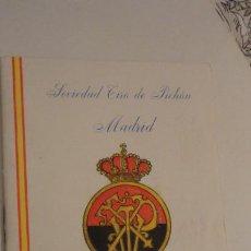 Coleccionismo deportivo: SOCIEDAD TIRO DE PICHON.PROGRAMA TIRADAS EXTRAORDINARIAS.MADRID 1959. Lote 195192096