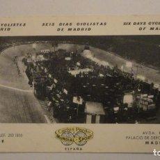 Coleccionismo deportivo: ANTIGUA POSTAL.SEIS DIAS CICLISTAS DE MADRID.CARLOS PARDO.MUNDIAL-SPORT.. Lote 195253362
