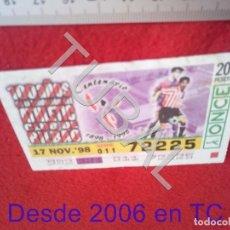 Coleccionismo deportivo: TUBAL ATHLETIC BILBAO CUPON ONCE CENTENARIO 17 NOVIEMBRE 1998 B49. Lote 195290248