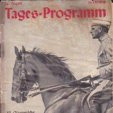 Coleccionismo deportivo: PROGRAMA OFICIAL XI OLIMPIADA DE BERLIN 1936 DIA 16 AGOSTO 1936. Lote 195301630