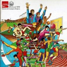 Coleccionismo deportivo: MONTREAL 1976-COCA COLA 84 TRANSPARENCIAS TAPONES DE BOTELLAS DE COCA COLA. Lote 195316970