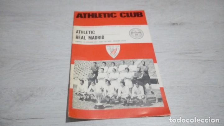 PROGRAMA OFICIAL ATHLETIC CLUB DE BILBAO - REAL MADRID TEMPORADA 72- 73. (Coleccionismo Deportivo - Documentos de Deportes - Otros)