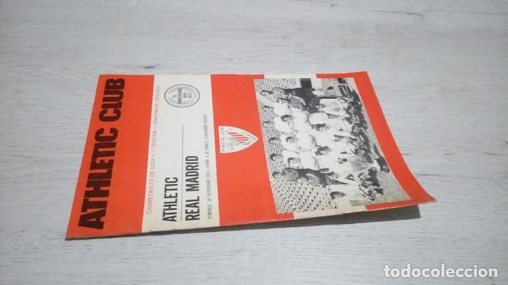 Coleccionismo deportivo: Programa oficial Athletic Club de Bilbao - Real Madrid temporada 72- 73. - Foto 4 - 195342182
