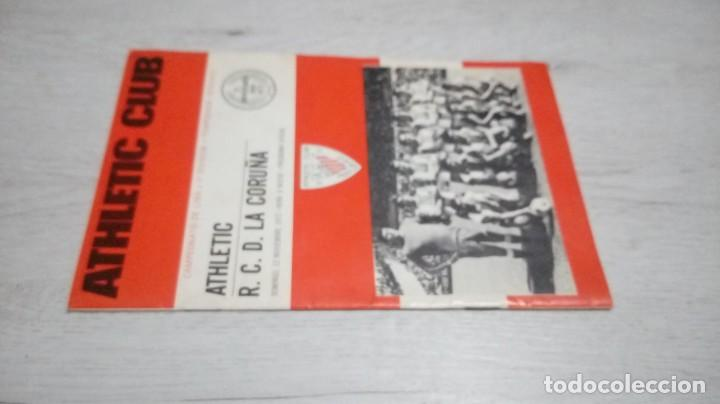 Coleccionismo deportivo: Programa oficial Athletic Club de Bilbao - R. C. D. La coruña temporada 72- 73. - Foto 4 - 195342251