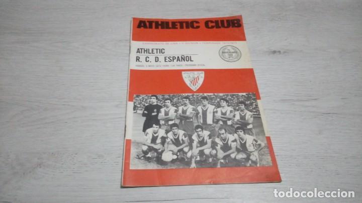 PROGRAMA OFICIAL ATHLETIC CLUB DE BILBAO - R. C. D. ESPAÑOL TEMPORADA 72- 73. (Coleccionismo Deportivo - Documentos de Deportes - Otros)