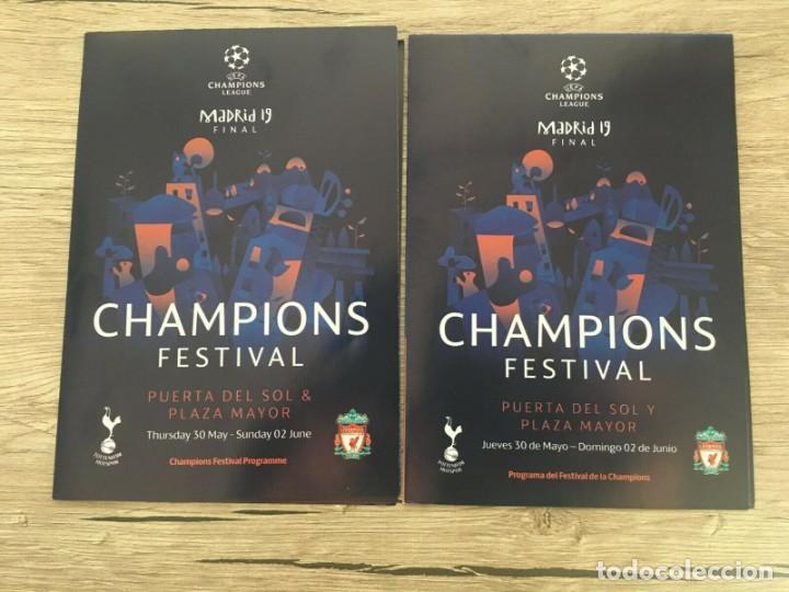 REVISTA PROGRAMA OFICIAL SPA ENG FINAL UEFA CHAMPIONS FESTIVAL MADRID 2019 LIVERPOOL TOTTENHAM (Coleccionismo Deportivo - Documentos de Deportes - Otros)