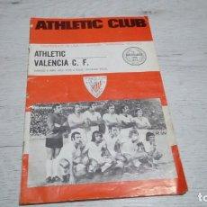 Coleccionismo deportivo: PROGRAMA OFICIAL ATHLETIC CLUB DE BILBAO - VALENCIA C. F. TEMPORADA 72 - 73.. Lote 195429103