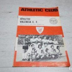 Coleccionismo deportivo: PROGRAMA OFICIAL ATHLETIC CLUB DE BILBAO - VALENCIA C. F. TEMPORADA 72 - 73.. Lote 195429471