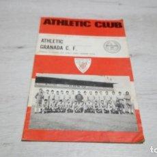 Coleccionismo deportivo: PROGRAMA OFICIAL ATHLETIC CLUB DE BILBAO - GRANADA C. F. TEMPORADA 72 - 73.. Lote 195429680