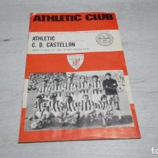 Coleccionismo deportivo: PROGRAMA OFICIAL ATHLETIC CLUB DE BILBAO - C. D. CASTELLON TEMPORADA 72 - 73.. Lote 195429836