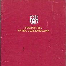 Coleccionismo deportivo: ESTATUTS DEL FUTBOL CLUB BARCELONA 2001. Lote 195440208