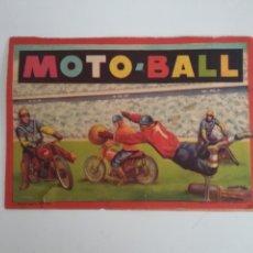 Coleccionismo deportivo: FOLLETO DÍPTICO PUBLICIDAD MOTO-BALL - FÚTBOL EN MOTO - AÑO 1959. Lote 195510836