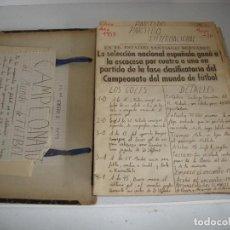 Coleccionismo deportivo: CURIOSA COLECCION DE RECORTES DE PRENSA SELECCION ESPAÑOLA FUTBOL AÑOS 50 VER FOTOS. Lote 195551958