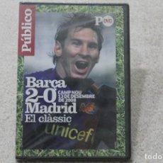 Coleccionismo deportivo: DVD BARÇA MADRID EL CLÀSSIC 2-0 CAM NOU 13 DE DESEMBRE 2008 PRECINTADO. Lote 195575053