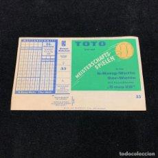 Coleccionismo deportivo: QUINIELA FUTBOL ALEMANIA FUSSBALL TOTO 1960. Lote 196144321