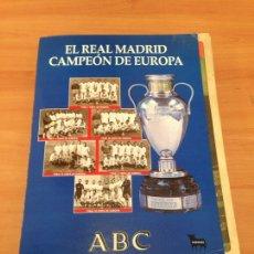 Coleccionismo deportivo: EL REAL MADRID CAMPEÓN DE EUROPA FASCÍCULOS. Lote 196939497