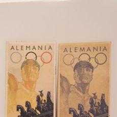 Coleccionismo deportivo: PUBLICIDAD DE LOS JUEGOS OLÍMPICOS BERLÍN 1936/ 1° A 16 DE AGOSTO/ ORIGINAL/ LENGUA ESPAÑOLA. Lote 197140106