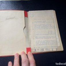 Coleccionismo deportivo: ANTIGUA CARTILLA CÁLCULOS Y PUNTUACIONES INSTRUCCIONES TABLAS DE SALTOS ESQUÍ MEDIADOS S XX. Lote 198133645