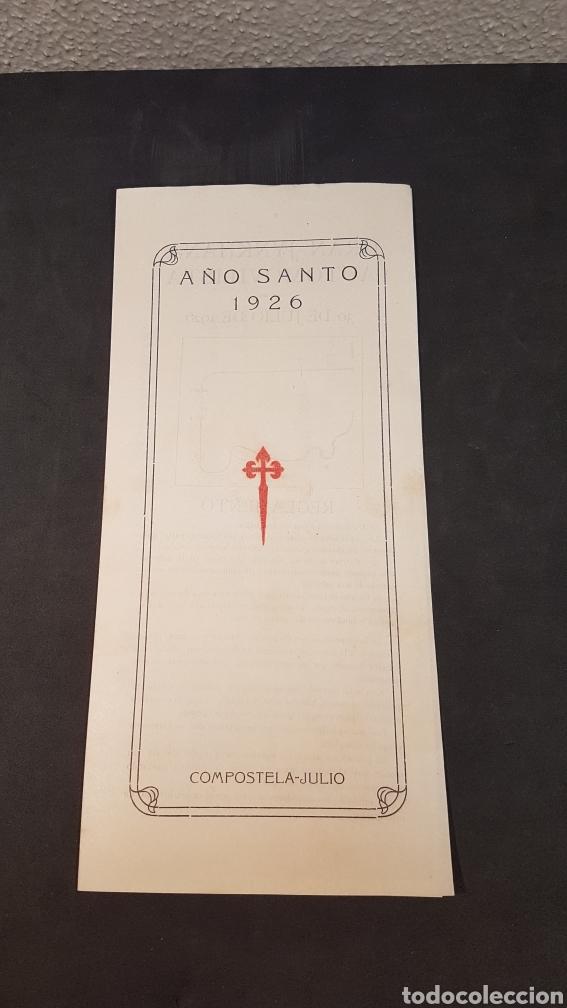 AÑO SANTO SANTIAGO DE COMPOSTELA 1926. INSCRIPCIÓN GYMKHANA AUTOMOVILISTICA Y CARRERA DE CINTAS. (Coleccionismo Deportivo - Documentos de Deportes - Otros)