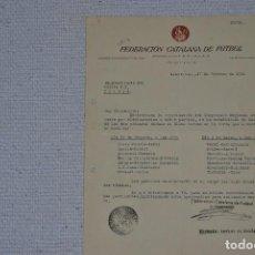 Coleccionismo deportivo: CALENDARIO DEL SORTEO FEDERACION CATALANA DE FUTBOL 1941 . Lote 199388025