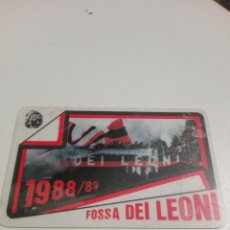 Coleccionismo deportivo: TARJETA CARNET GRUPO ULTRA FOSSA DEI LEONI 1988/89. Lote 199462301