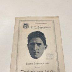 Coleccionismo deportivo: PROGRAMA OFICIAL TORINO FC-FC BARCELONA AÑOS 1910-1920. Lote 199765766