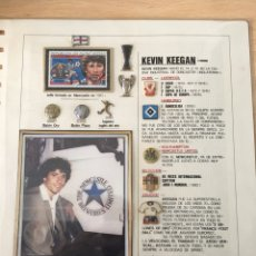 Coleccionismo deportivo: KEVIN KEEGAN, FICHA CON FIRMA, LIVERPOOL, INGLATERRA. FUTBOL.. Lote 199794016