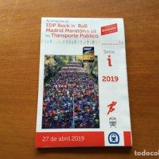 Coleccionismo deportivo: ROCK N' ROLL MADRID MARATHON 2019 RECORRIDO. Lote 199831000