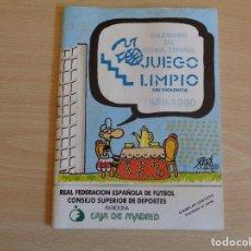 Coleccionismo deportivo: CALENDARIO DE FUTBOL ESPAÑOL 1989-1990. DIBUJOS DE FORGES. MUY BUEN ESTADO. Lote 199840682