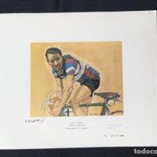 Coleccionismo deportivo: LITOGRAFIA - EL CAMPEON MARIÁNO CAÑARDO - PINTADO POR J. VERDAGUER. Lote 199866028