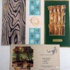 Coleccionismo deportivo: 4 FELICITACIONES DE NAVIDAD DE ASESORIAS, PEÑAS Y REPRESENTANTE CLUBS DE FUTBOL. 1960-80.. Lote 200798217