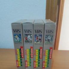 Coleccionismo deportivo: EL MEJOR FÚTBOL DE LA HISTORIA 4 VHS 1991 INTERVIU. Lote 201594016
