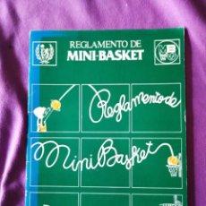 Coleccionismo deportivo: REGLAMENTO DE MINI BASKET. Lote 202272935