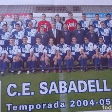 Coleccionismo deportivo: PÓSTER CE SABADELL 2004-05. Lote 202419020