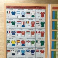 Coleccionismo deportivo: CALENDARIO PARTIDOS MUNDIAL MÉXICO 86 - PATROCINIO COLONIA JACQ'S (MUY DIFÍCIL CONSEGUIR). Lote 203783890