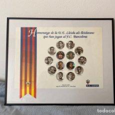 Coleccionismo deportivo: HOMENAJE UNIÓ ESPORTIVA UE LLEIDA CENTENARI DEL FUTBOL CLUB BARCELONA BARÇA FCB AÑO 1999. Lote 204007426