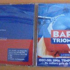 Coleccionismo deportivo: CD BARÇA TRIOMFANT LA VANGUARDIA. 1997-98 UNA TEMPORADA HISTÒRICA.. Lote 204611223