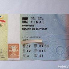 Coleccionismo deportivo: ENTRADA BARCELONA 92 JJOO REMO FINAL 2 AGOSTO 1992 JUEGOS OLÍMPICOS. Lote 218825112