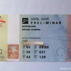 Coleccionismo deportivo: ENTRADA BARCELONA 92 JJOO ATLETISMO PRELIMINAR 5 AGOSTO 1992 JUEGOS OLÍMPICOS. Lote 205182127