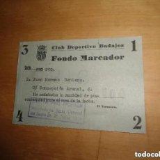 Coleccionismo deportivo: ANTIGUO DOCUMENTO CLUB DEPORTIVO BADAJOZ - RESGUARDO PAPELETA PRO FICHAJE 1974. Lote 205783985